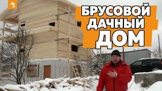 видео Дома из профилированного бруса: технология строительства