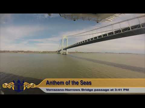 Anthem of the Seas: Bayonne, NJ Timelapse Departure (4K)