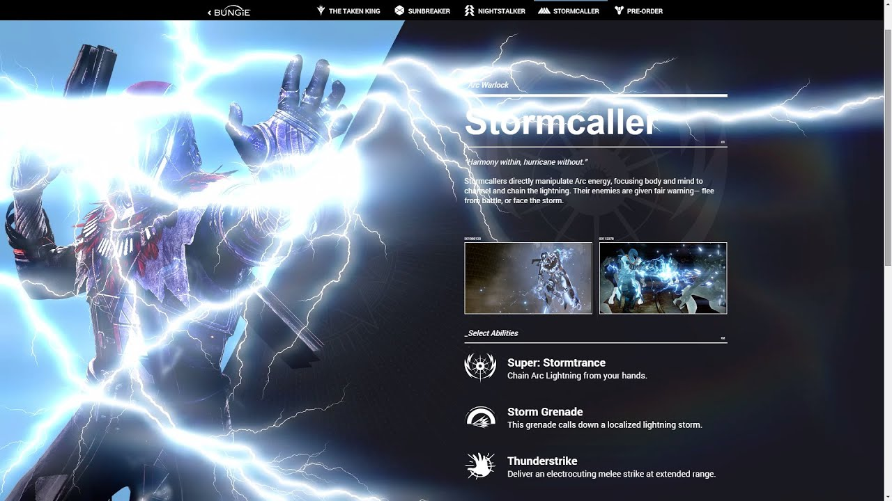 Destiny NEW Warlock Subclass Skill Tree Stormcaller