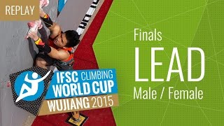 IFSC Climbing World Cup Wujiang 2015 - Lead - Final - Male/Female