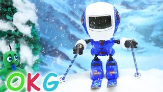Winter Sport Stop Motion   Kids Cartoons & Baby Videos - OKG