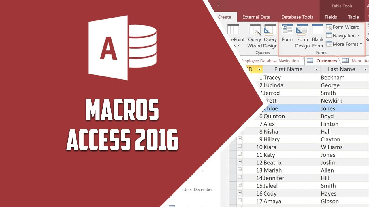 how to create a macro in access 2016