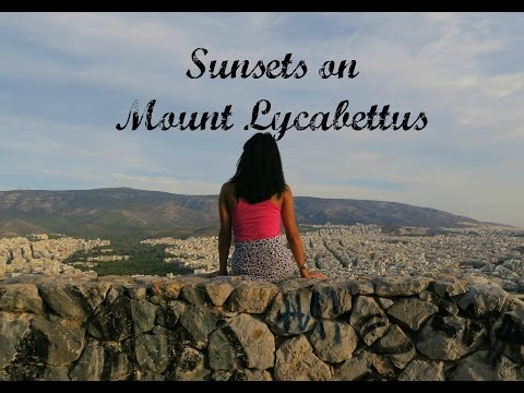 Sunset on Mount Lycabettus in Athens, Greece - Travel with Arianne - Travel Europe episode #1