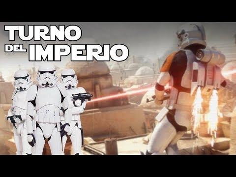 El turno del imperio con la mochila propulsor  Star wars Battlefront 2