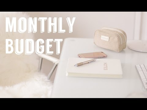 How I Make A Monthly Budget