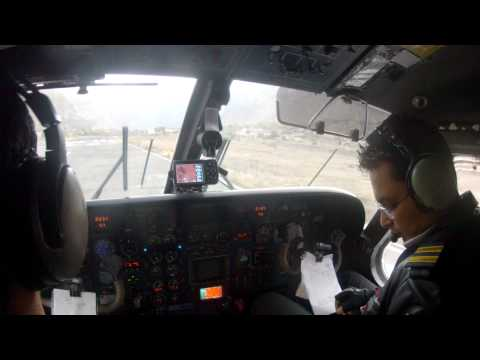 Cockpit video of Jomsom Approach and Landing