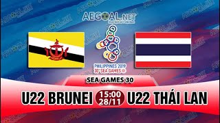 Highlights Thái lan 7 - 0 Brunei | Seagames 30 | Bóng đá nam