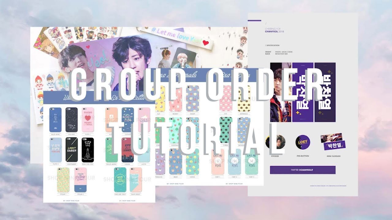 Group order tutorial where i get my exo stickers cloudyeollie