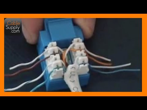 110 Punch Down Block Wiring Diagram How To Cable A Computer Jack Rj45 Cat 5e Youtube