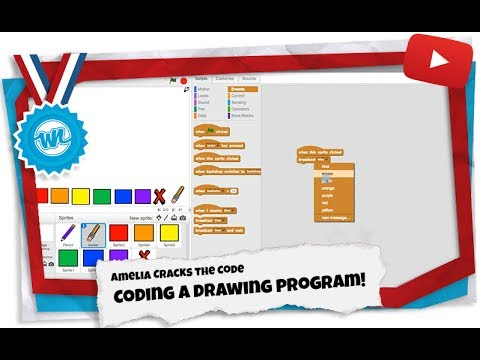 How to Make a Drawing Program in Scratch! | Amelia Cracks the Code