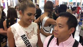 Realandia Jewelry interviewed Miss Universe Argentina 2014 Valentina Ferrer at Chinese Laundry event Thumbnail