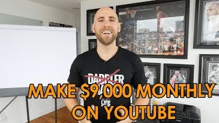 Video How I Make $9000 Per Month On YouTube download MP3, 3GP, MP4, WEBM, AVI, FLV September 2018