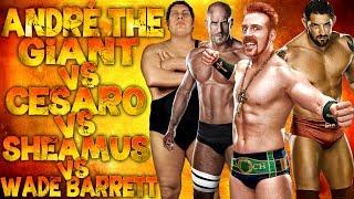 WWE 2K14: André The Giant Vs Cesaro Vs Sheamus Vs Wade Barrett