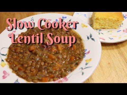 Slow Cooker Lentil Soup / Lentil Soup Recipe / Slow Cooker Recipe