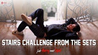 Stairs Challenge from the sets   Jab Harry Met Sejal   Anushka Sharma, Shah Rukh Khan