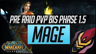 Classic WoW Mage Pre Raid PvP BiS Gear | Phase 1.5 (Dire Maul)