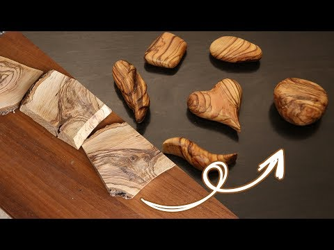 DIY wood carving simple wooden pendant from Olive wood - Power Carving and wood polishing