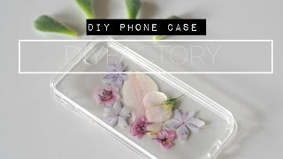 DIY - phone case from dried flowers