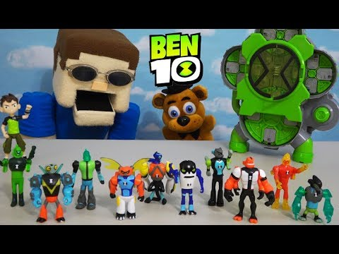 BEN 10 - EVERY Alien CREATION CHAMBER Figure with FNAF PLUSH FREDDY