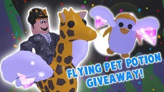 NEW FLYING PET POTION IN ADOPT ME UPDATE! FLYING POTION GIVEAWAY CLOSED