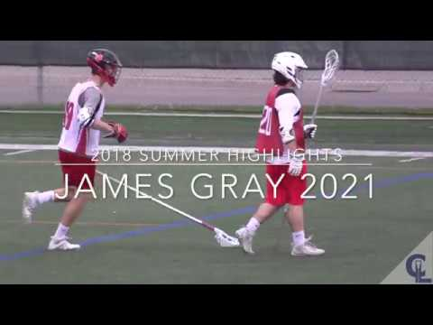 James Gray 2021  2018 Summer Lacrosse Highlights