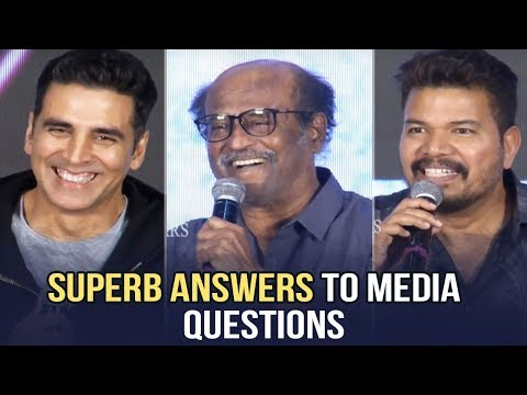 2.0 Movie Team Interacting With Telugu Media @ 2.0 Grand Press Meet | Manastars