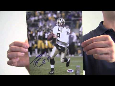 9adb7f3af Drew Brees Autographed Photo - 8x10 Brees Holo & PSA/DNA - YouTube