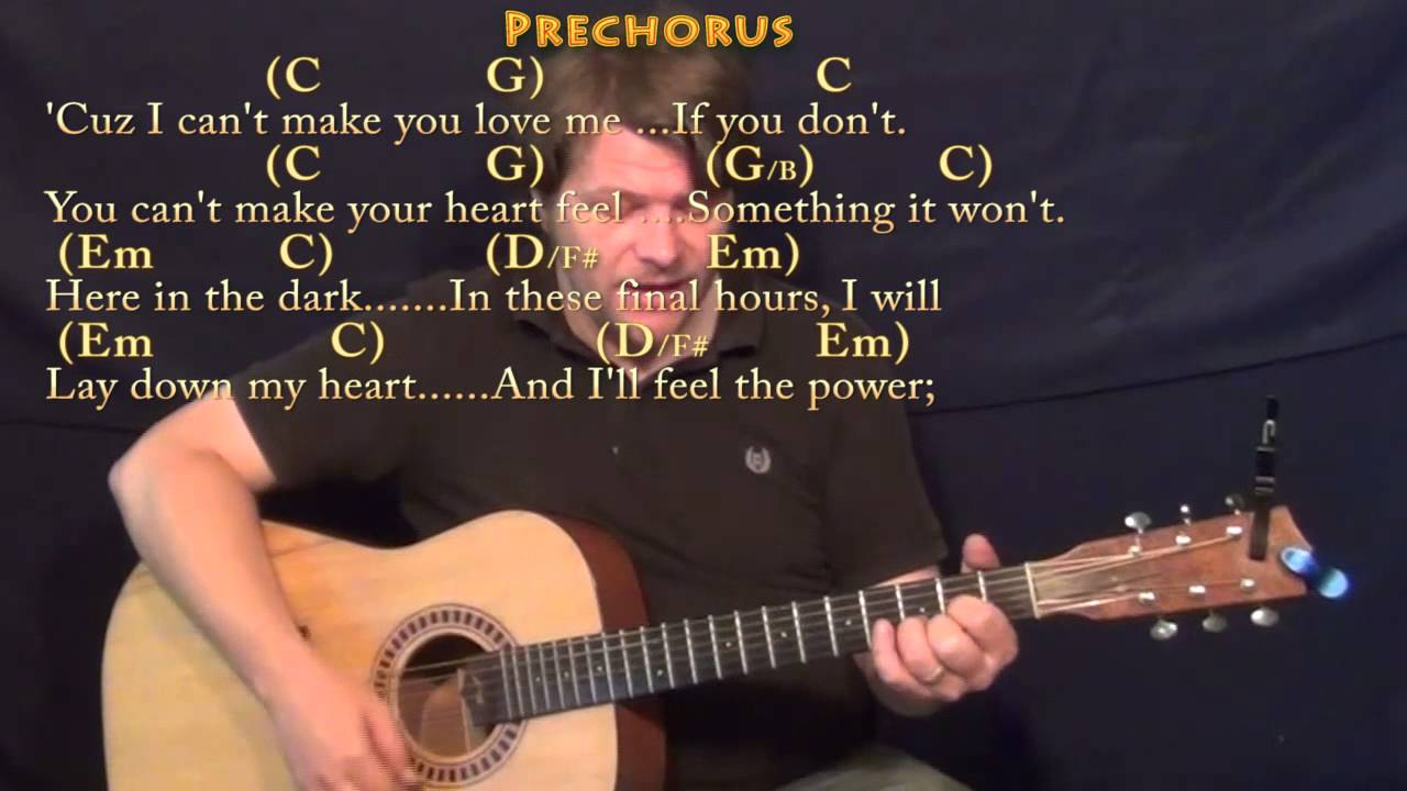 I Can't Make You Love Me   Strum Guitar Cover Lesson in G with Chords/Lyrics