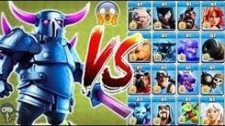 COC all troops vs pekka who will win
