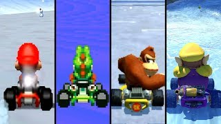 Evolution of Snow/Ice Courses in Mario Kart (1996-2019)