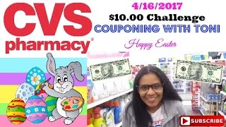 CVS $10.00 Challenge 4/16/17| Couponing With Toni | Newbies Start Here!