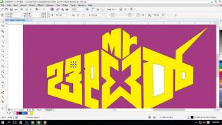 How to design title for your movie | Corel Draw Tutorials | movie poster