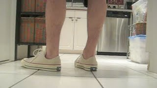 Converse All Star First String CT 1970's Retro On Feet Review 2013 LIVE!