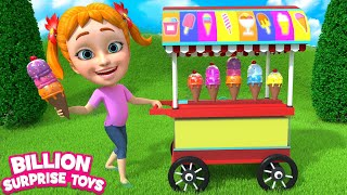 Baby Girl, ICE CREAM SONG - Simple Animation for Kids
