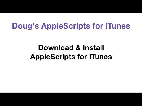 Doug's AppleScripts » Download FAQ for iTunes AppleScripts