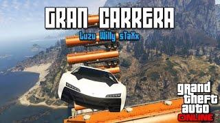 LA GRAN CARRERA!! - Carreras GTA V con Willy y sTaXx - [LuzuGames]