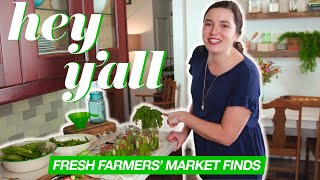 Easy Pickled Okra Recipe & How To Make Pear Preserves | Fresh Farmers' Market Finds | Hey Y'all
