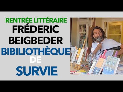 Bibliothèque de Survie Frédéric Beigbeder parle de son livre - Rentrée Littéraire Cap Ferret #10