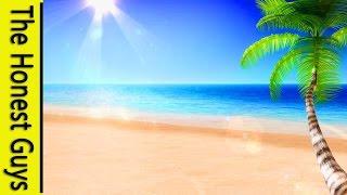 4 HOURS Ocean Waves on a Tropical Beach - Sleep Study Spa Relaxation