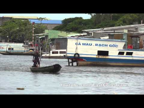 Boat lane of  Cà Mau  Vietnam