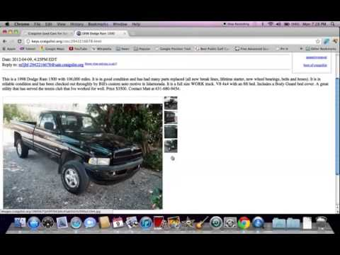 Craigslist Florida Keys   Used Cars And Trucks For Sale By Owner