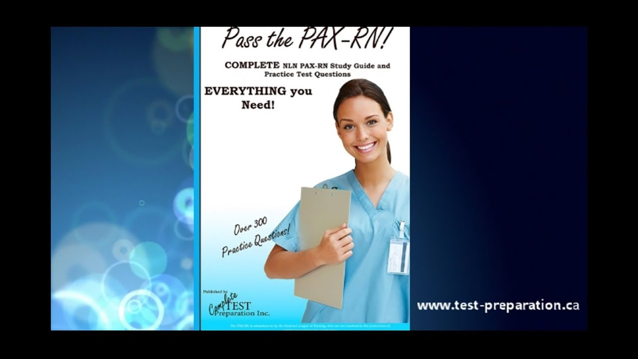 NLN PAX Exam Nursing Entrance Test - Study Guide, Practice