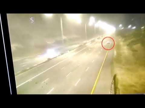 רכב איבד את הבלמים בכביש 6