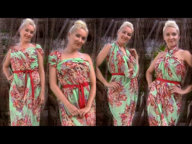 How to tie scarf dresses - 8 different ways to tie a beach pareo in summer