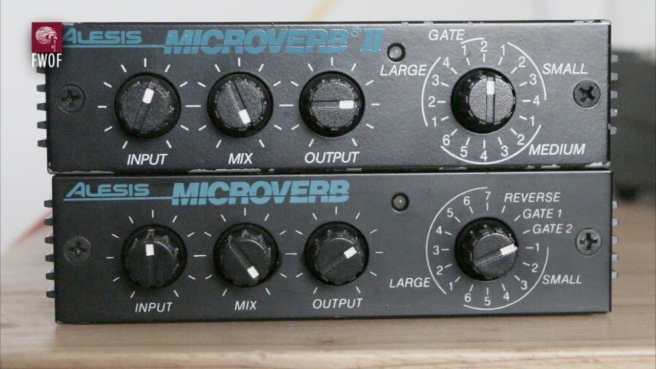 Reverb comparison, Alesis Microverb and Microverb II - YouTube