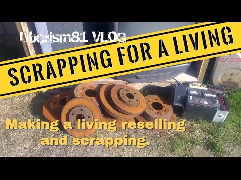 Recycling metal for cash, Reselling and Scrapping for a Living. HVAC Scrap, Uberism81 Vlog