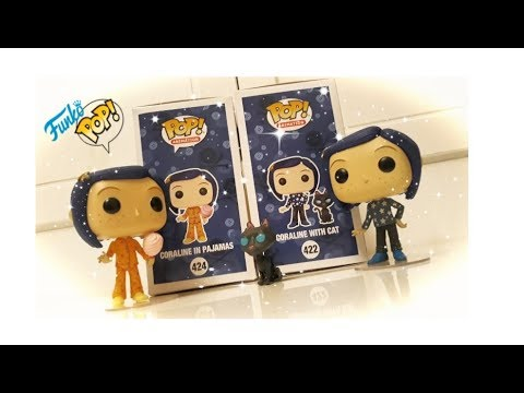 Funko Pop Exclusive Coraline With Cat E Coraline In Pajamas Unboxing Review Ita Youtube