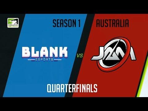 Blank Blue vs Just a Minute Gaming (Part 1) | OWC 2018 Season 1: Australia [Quarterfinals]