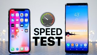iPhone X vs Samsung Galaxy Note 8 SPEED Test! thumbnail