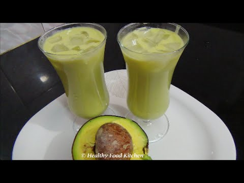 Avocado Milkshake Recipe-Butter Fruit Milkshake Recipe By Healthy Food Kitchen
